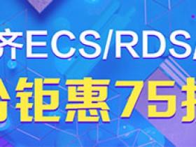 阿里云ECS/RDS/技术人员联合钜惠75折起