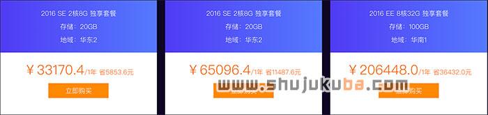 阿里云SQL Server SE&EE云数据库高可用版本